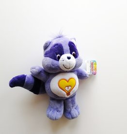 Care Bears Peluche Calinours - Raton laveur Coeur brillant - PETIT
