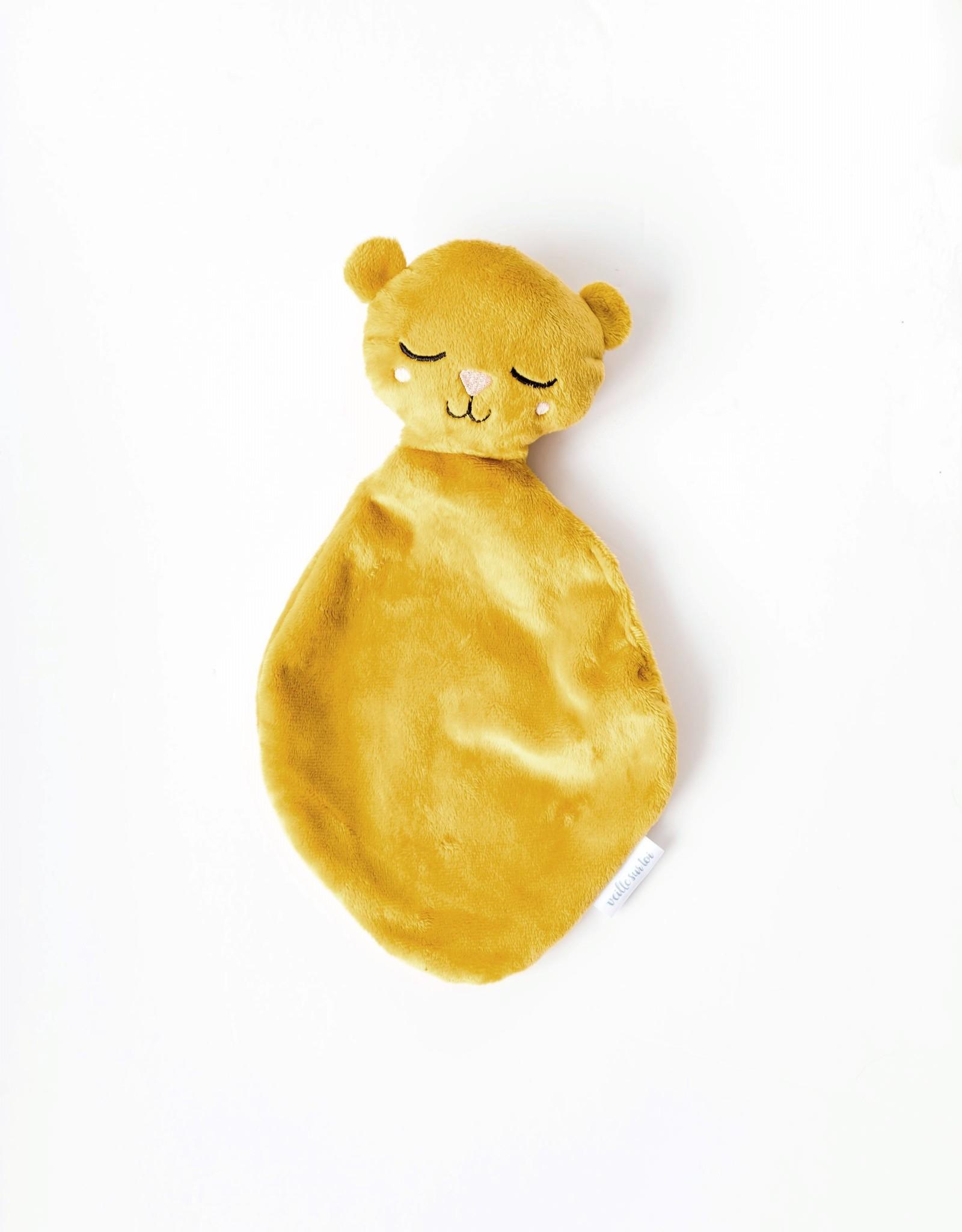 Veille sur toi Bear Babyblankie - Mustard