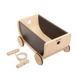 Plan Toys Chariot Wagon de bois - Noir