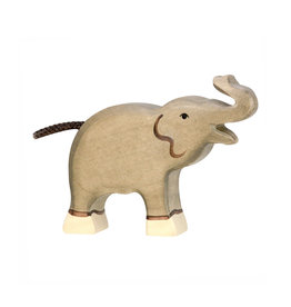 Holztiger Wooden Animal - Baby elephant with truck raised