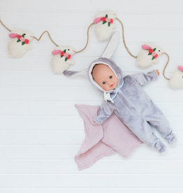 Paola Reina Alex & Sonia Easter doll- Alex in gray rabbit pajamas
