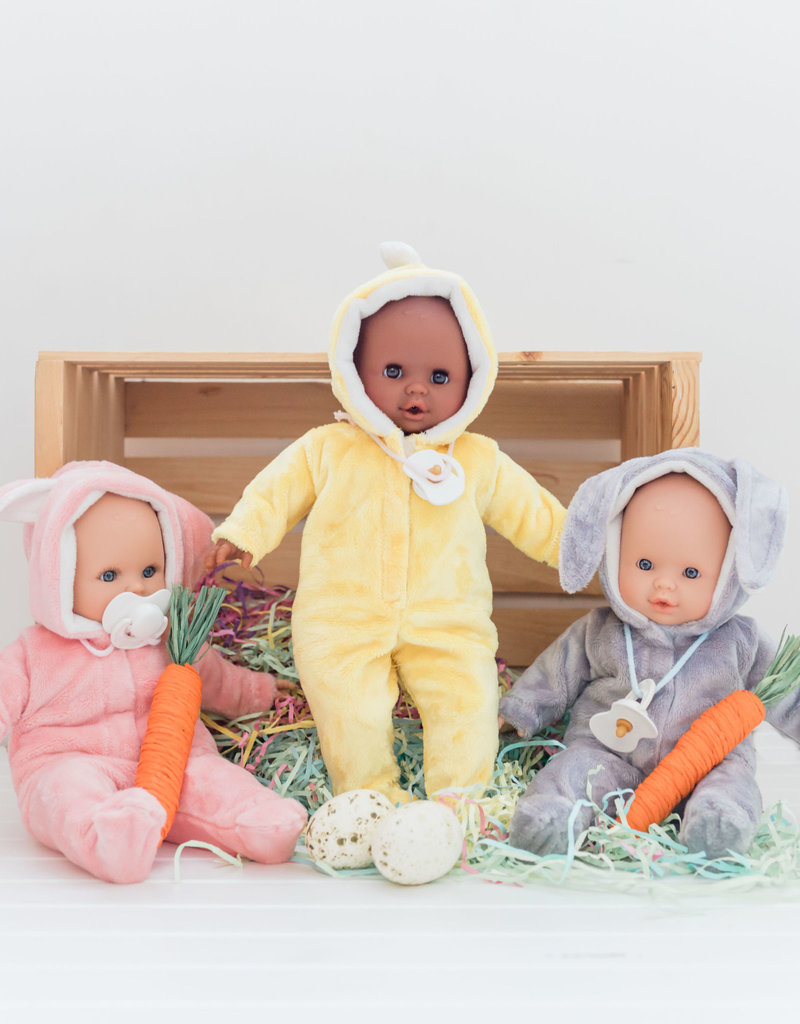 Paola Reina Alex & Sonia Easter doll- Alex in gray rabbit pajamas