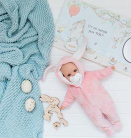 Paola Reina Alex & Sonia Easter doll- Sonia in pink rabbit pajamas