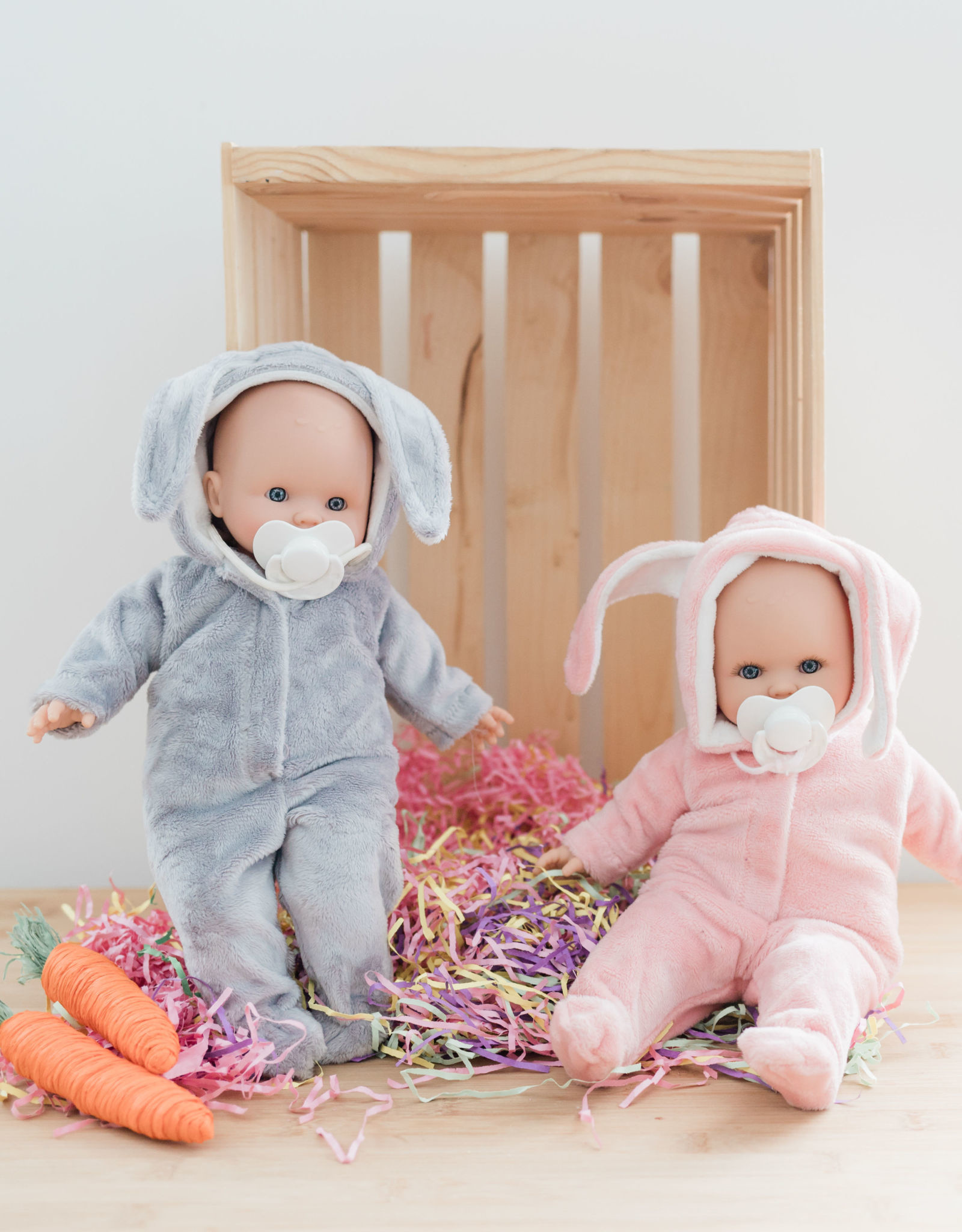 Paola Reina Alex & Sonia dol l- Sonia in pink rabbit pajamas