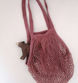 OowlStudio Sac en filet - Rose antique