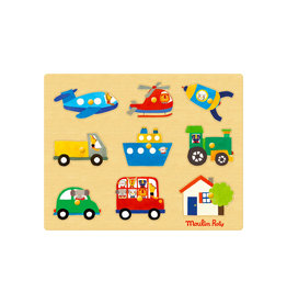 Moulin Roty Popipop transport Puzzle