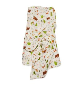 Loulou Lollipop Muslin - Forest Friends