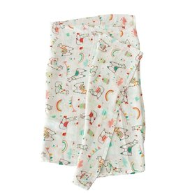 Loulou Lollipop Muslin - Llama and rainbow