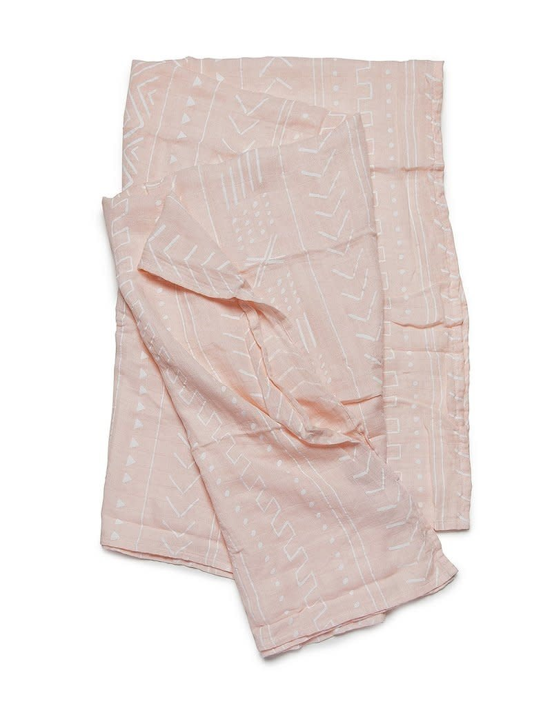 Loulou Lollipop Muslin - Pink Mudcloth