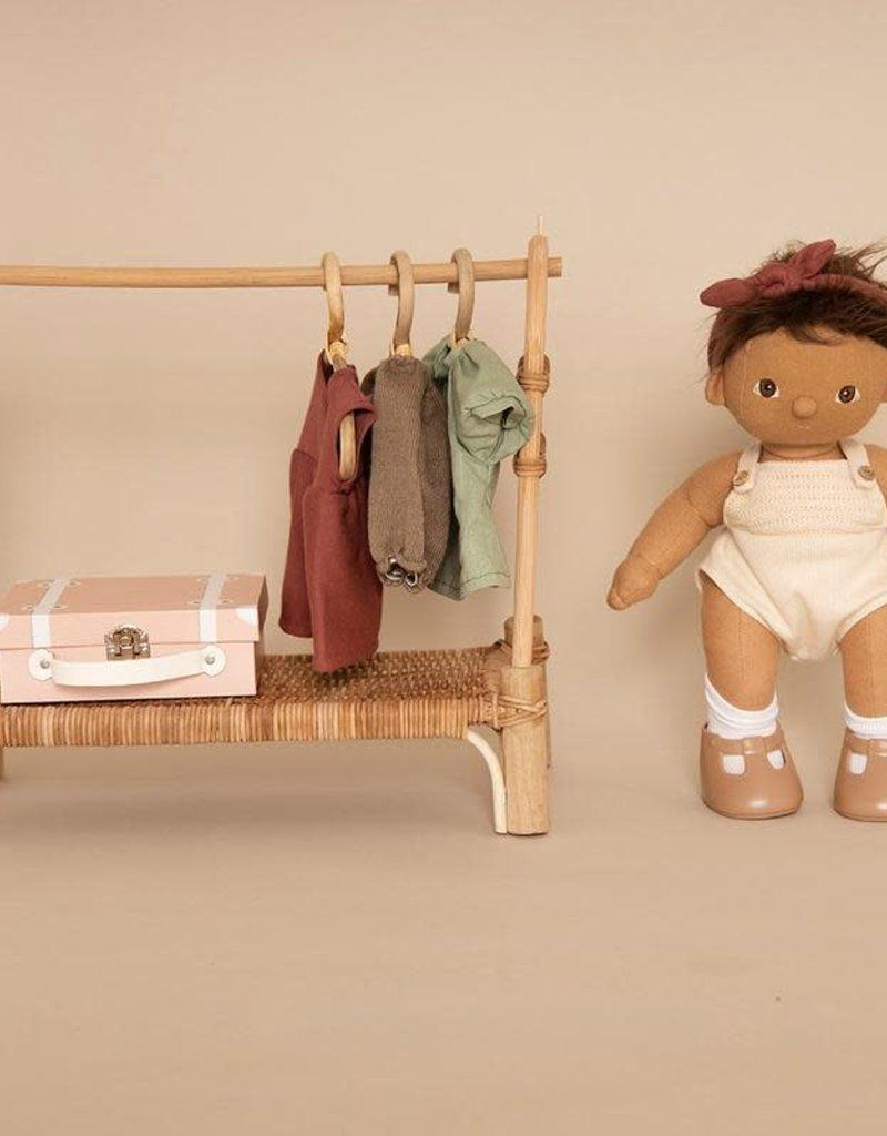 Olli Ella Dinkum Doll Single Romper - Sage Green