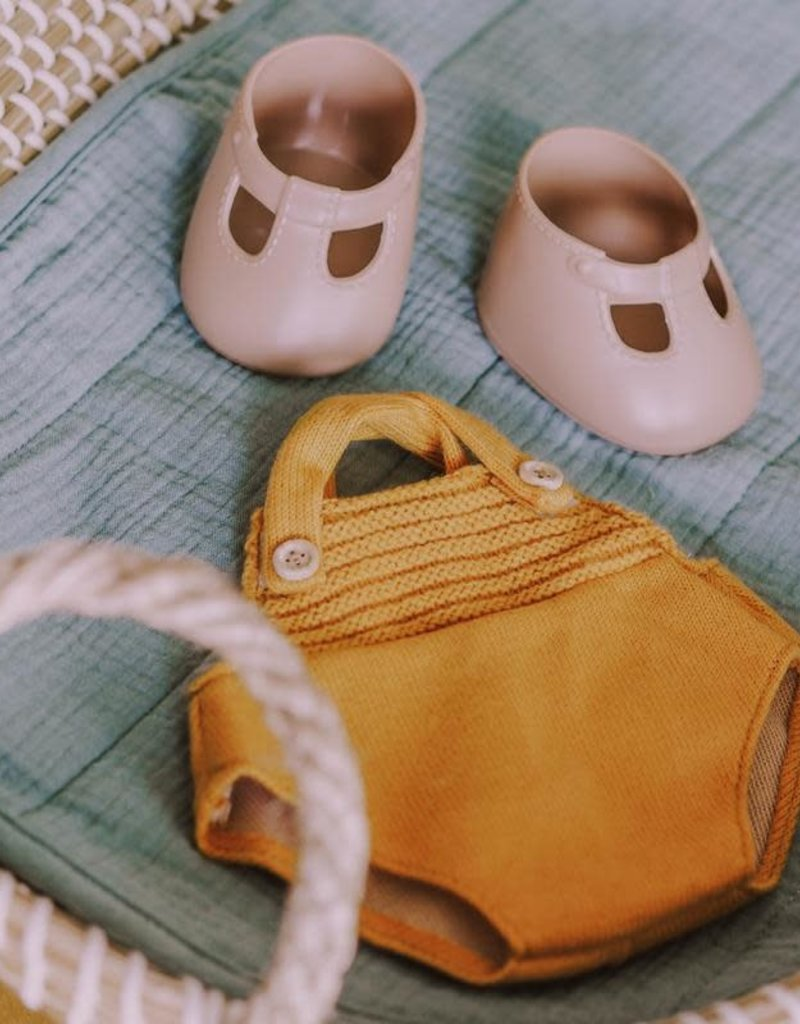 Olli Ella Dinkum Doll Single Romper - Mustard