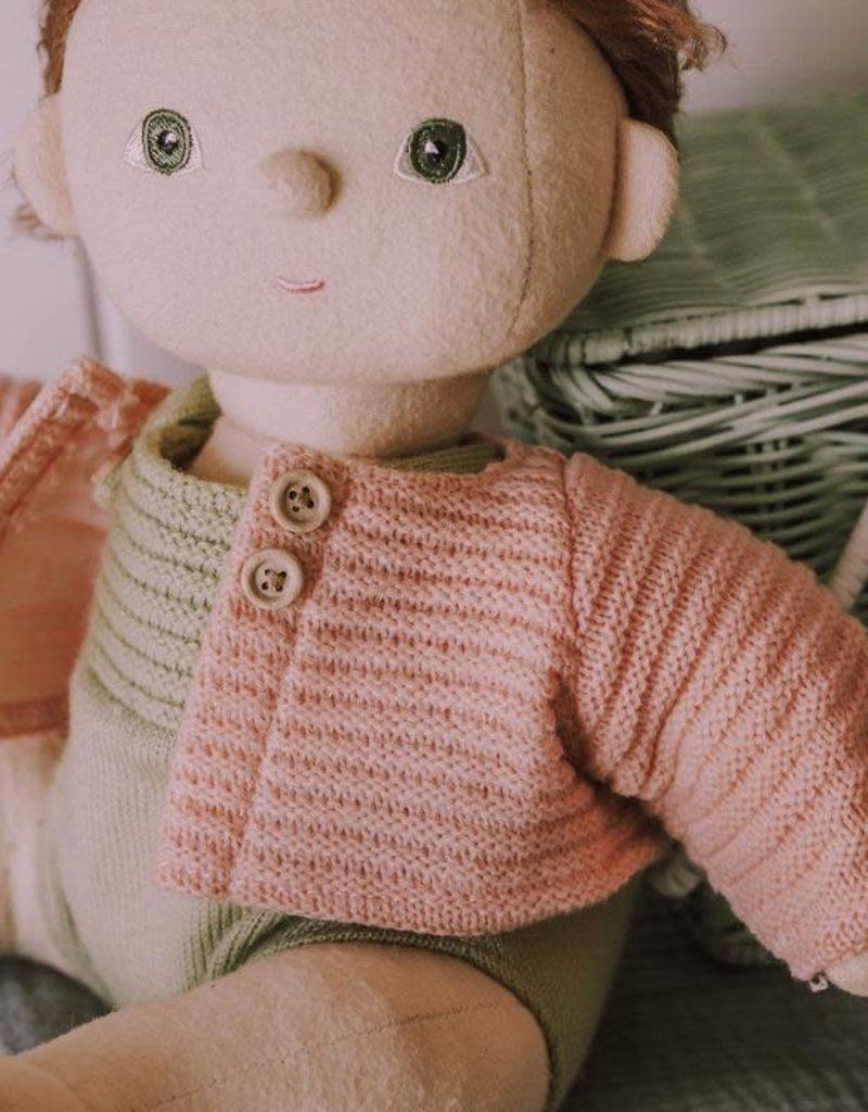Olli Ella Dinkum Doll Single Cardigan - Rose
