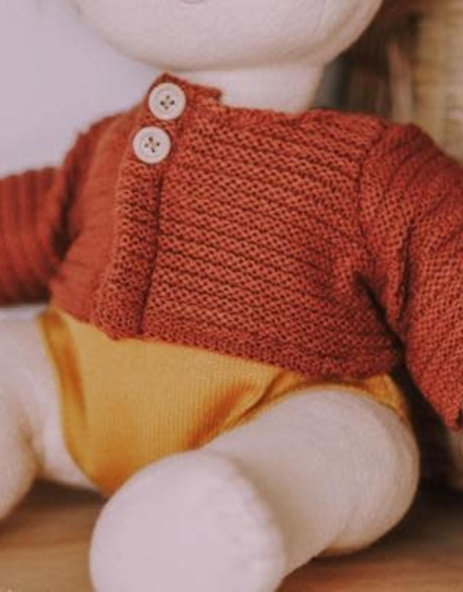 Olli Ella Dinkum Doll Single Cardigan - Chestnut