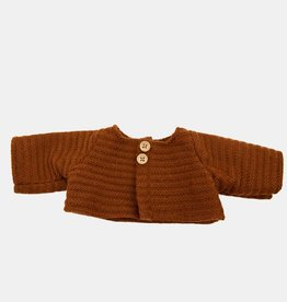Olli Ella Dinkum Doll Single Cardigan - Chestnut