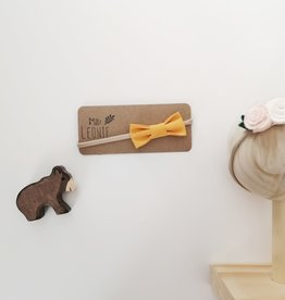 Mlle Léonie Bow tie headband - mustard yellow