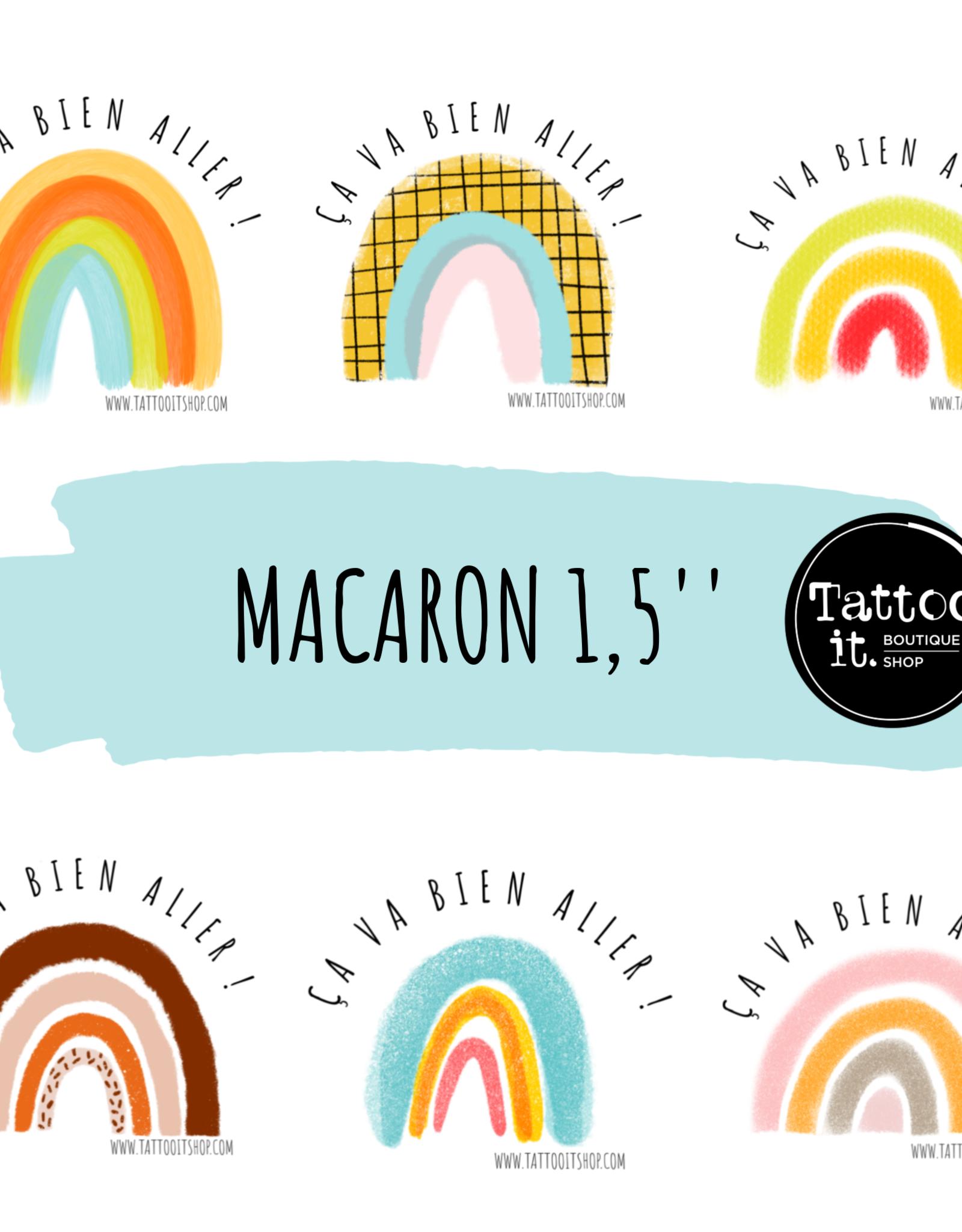 Tattoo It Ensemble de 4 macarons '' Ça va bien aller '' de 1,5 pouces