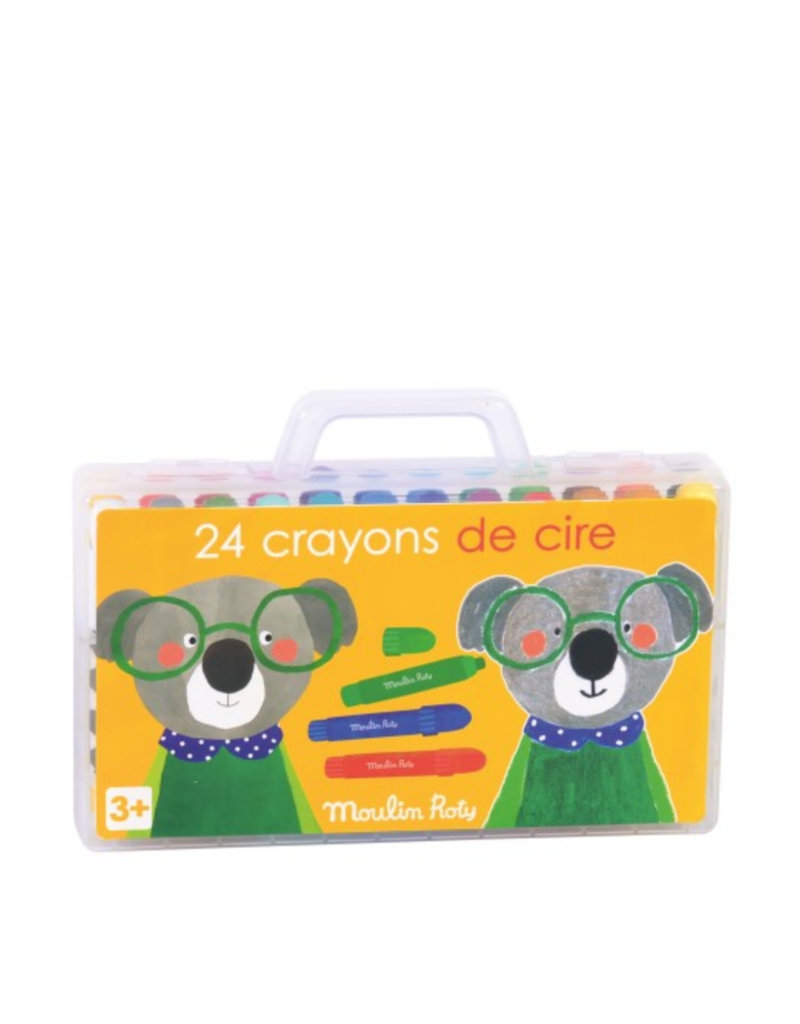 Moulin Roty Wax Crayons suitcase