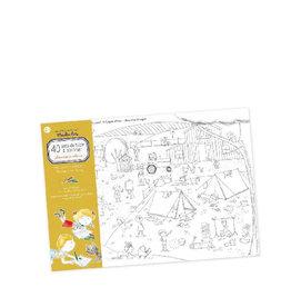 Moulin Roty 40 napperons en papier à colorier