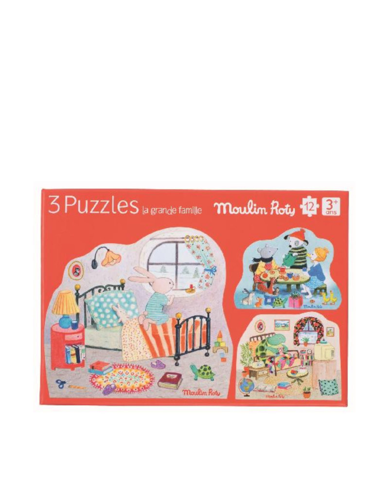 Moulin Roty Puzzle Set of 3 - Family