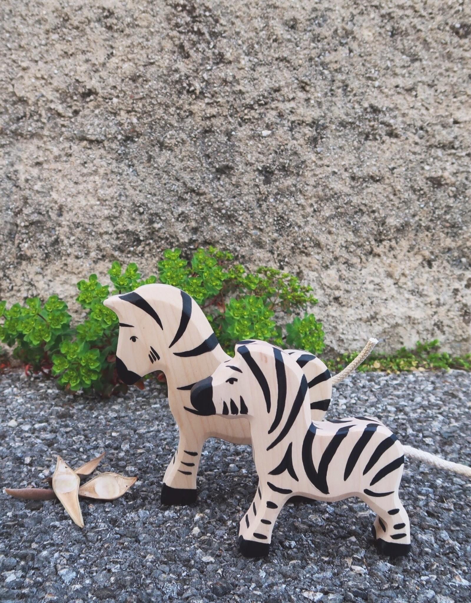 Holztiger Animal en bois - Bébé zèbre