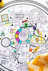 Atelier Rue Tabaga Le sentier des animaux- Giant coloring poster + Game Board ( French version only )