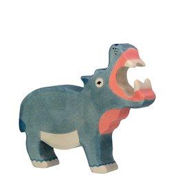 Holztiger Animal en bois - Hippopotame
