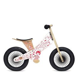 Kinderfeets Vélo d'équilibre RETRO - Jolie Princesse