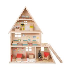 Moulin Roty Grande famille - Maison de poupées avec mobilier