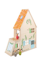 Moulin Roty Wood doll house with furniture