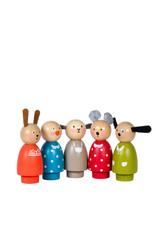 Moulin Roty Grande famille - Personnages en bois