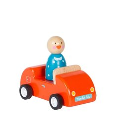 Moulin Roty Grande famille - Voiture rouge avec Jeanne