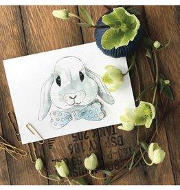 Stéphanie Renière illustration Card - Mr. Bunny