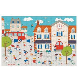 "Moulin Roty Puzzle - Schoolyard ""Aujourd'hui c'est mercredi"""