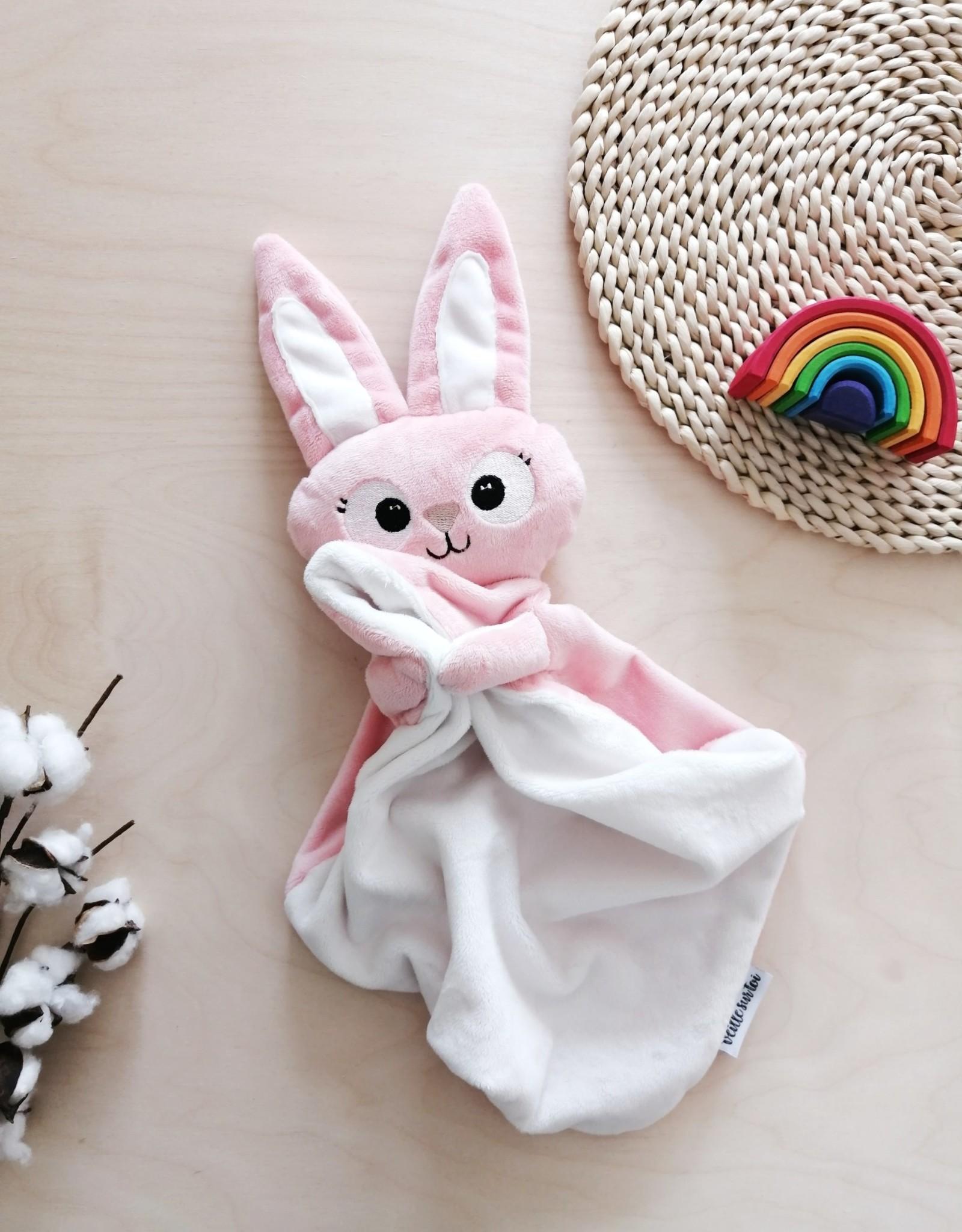 Veille sur toi Baby Blankie - Margot the pink bunny NEW - Pre-order