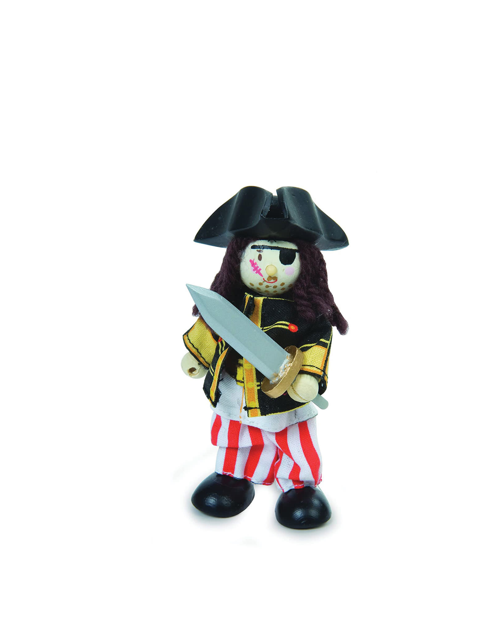 Le Toy Van Wooden Caracter - Pirate With An Eye Patch