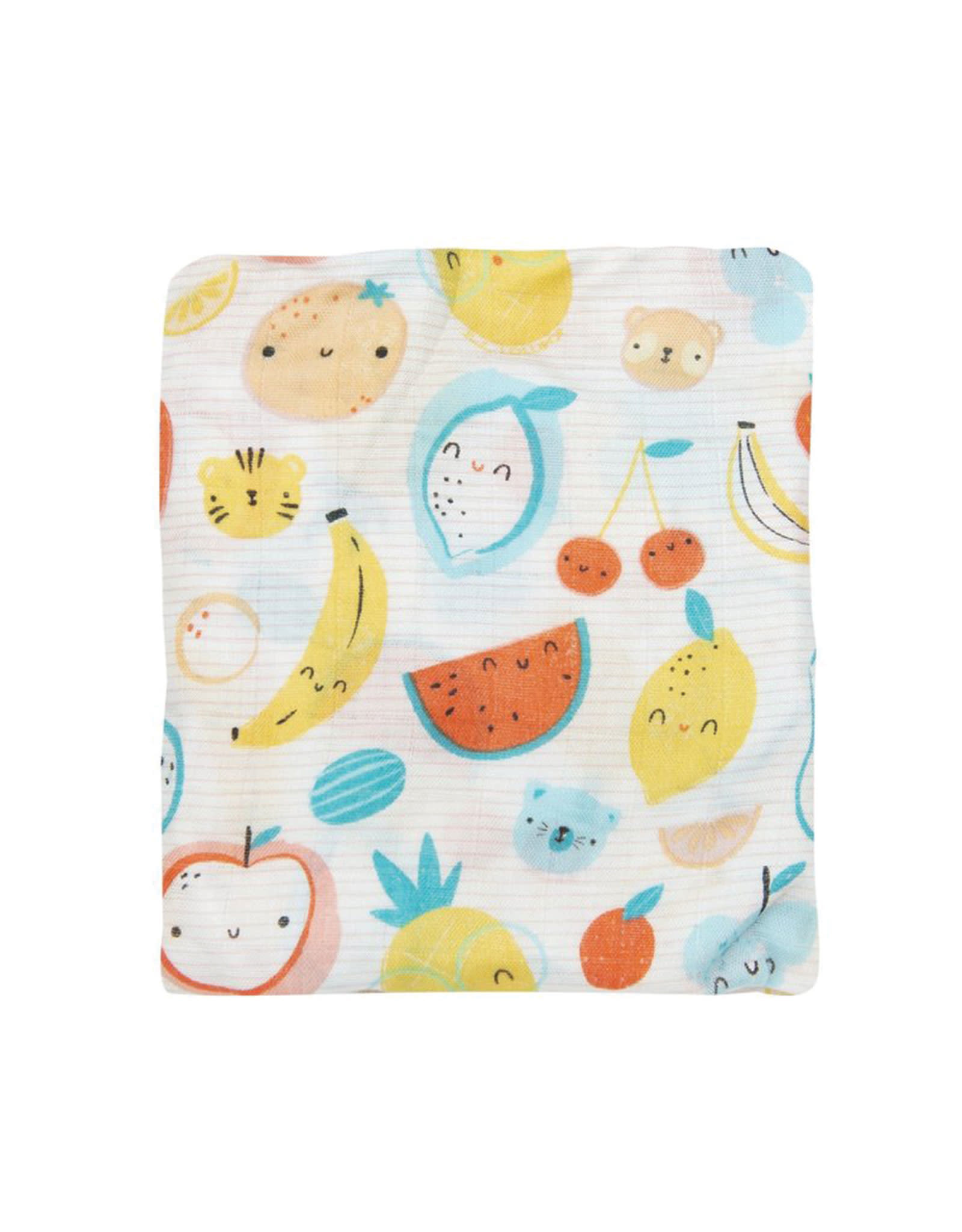 Loulou Lollipop Fitted Crib Sheet - Cutie Fruits