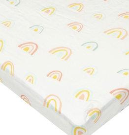 Loulou Lollipop Drap contour bassinette -  Arc-en-ciel pastel