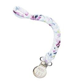 Petit Tot Braided pacifier clip - Floral purple
