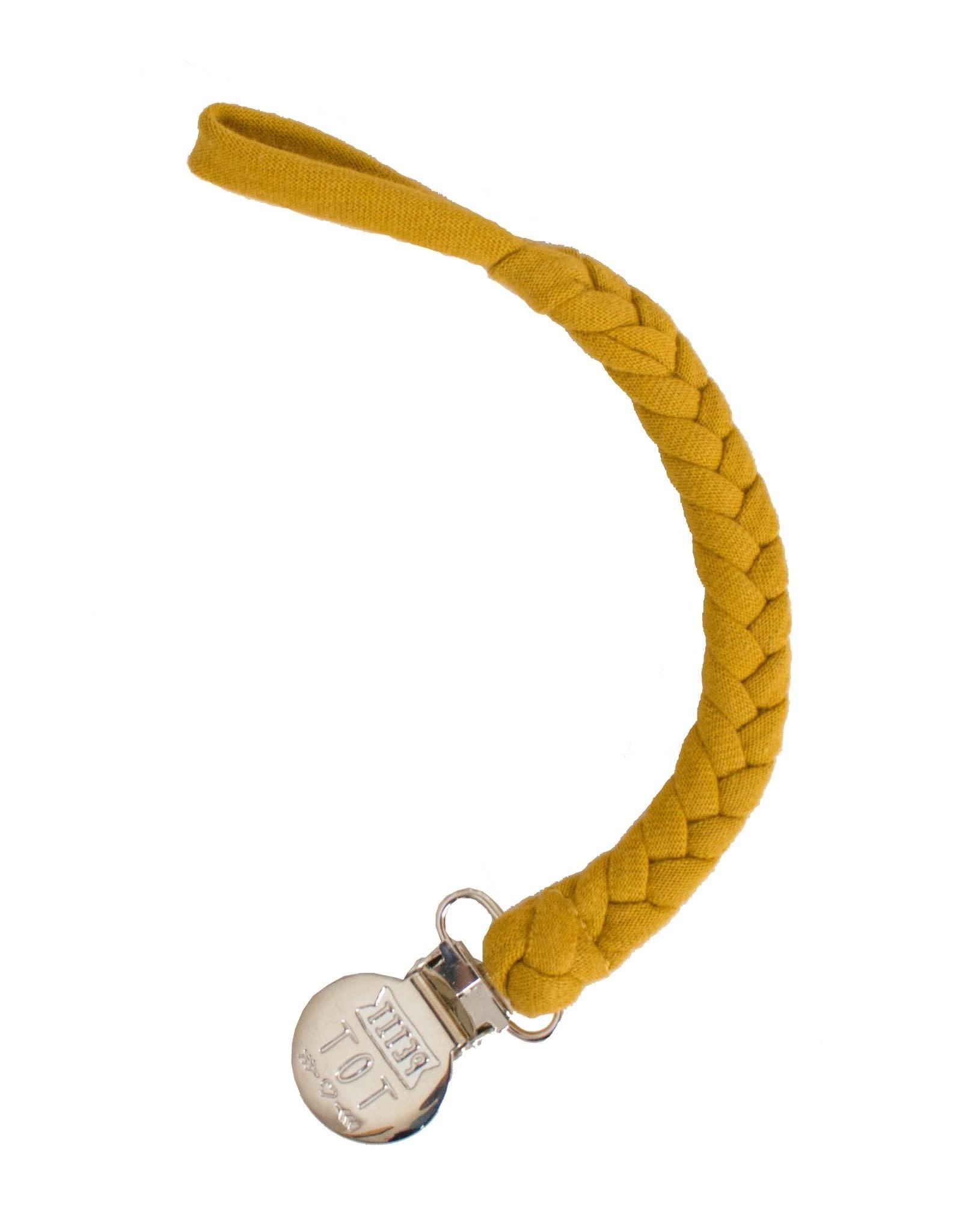 Petit Tot Braided pacifier clip - Mustard