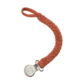 Petit Tot Braided pacifier clip -  Rust