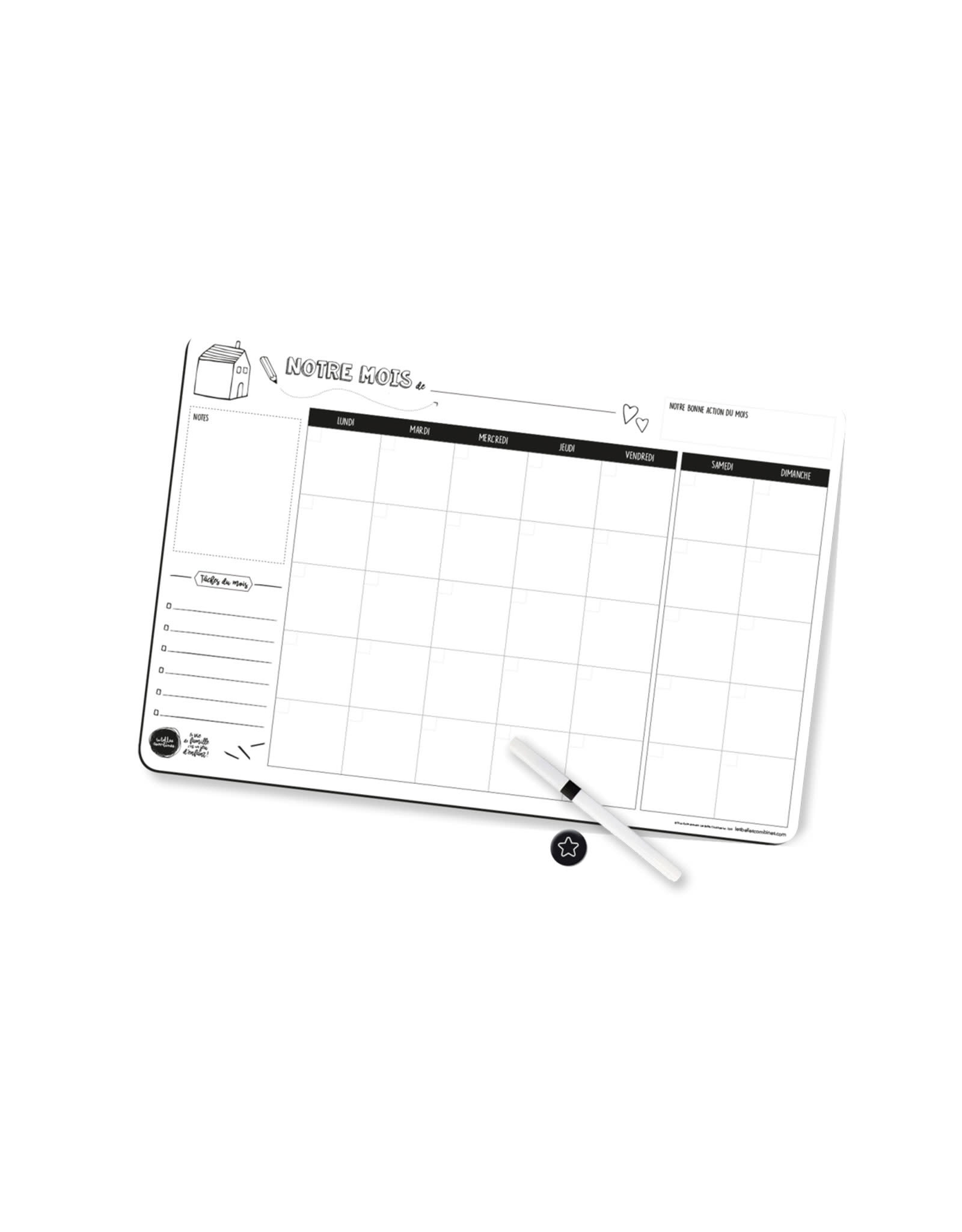 Les belles combines Magnetic Monthly Family Planner