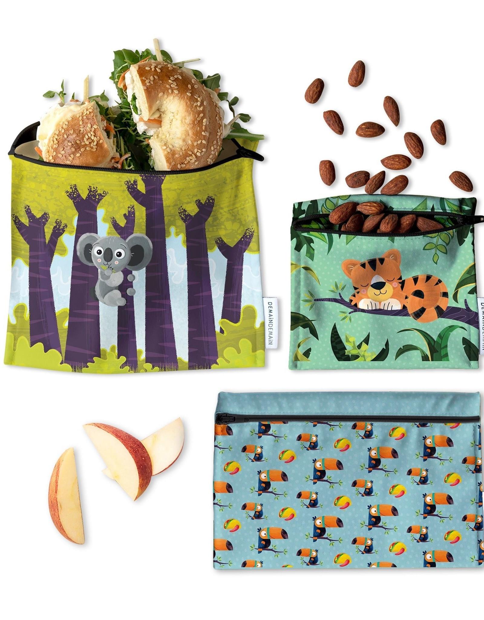 Demain Demain Trio Of Reusable Bags - Animals