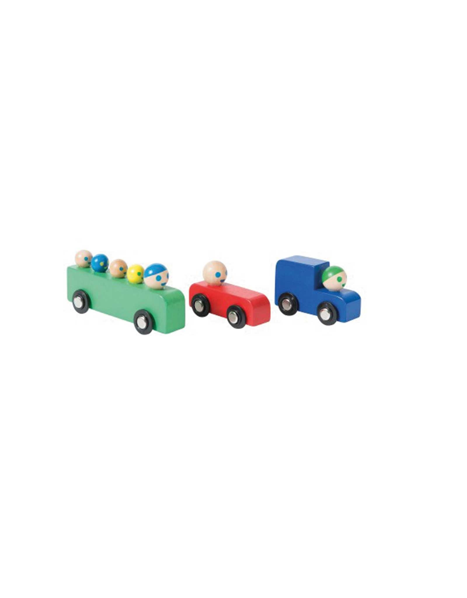 Moulin Roty Wooden Car And Bus Set