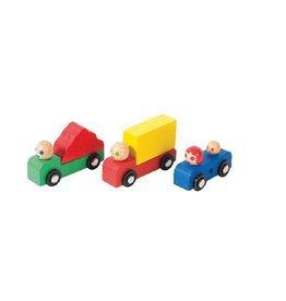Moulin Roty Ensemble de voitures et camion en bois