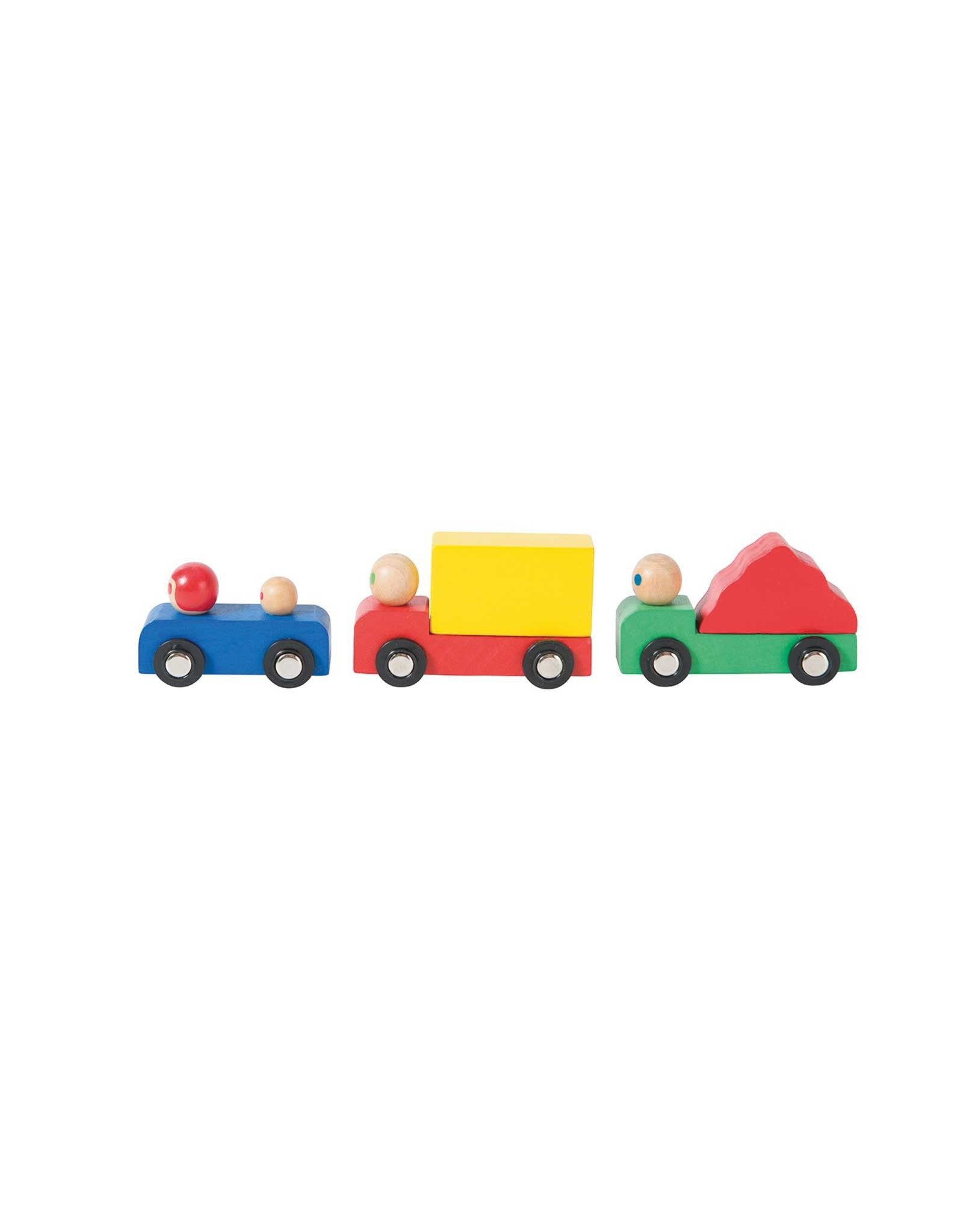 Moulin Roty Wooden Car And Trucks Set