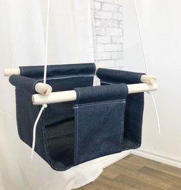 Cyan Balançoire intérieure pour enfant - Jeans foncé