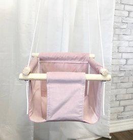 Cyan Baby swing - Pink velvet