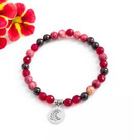 Bijoux Sophistikate Bracelet de pierre semi-précieuse - Grenadine