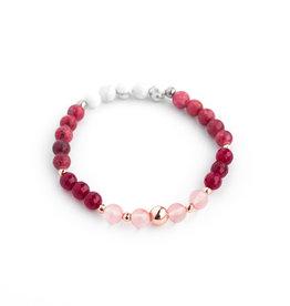 Bijoux Sophistikate Bracelet de pierre semi-précieuse - Melon doux 3