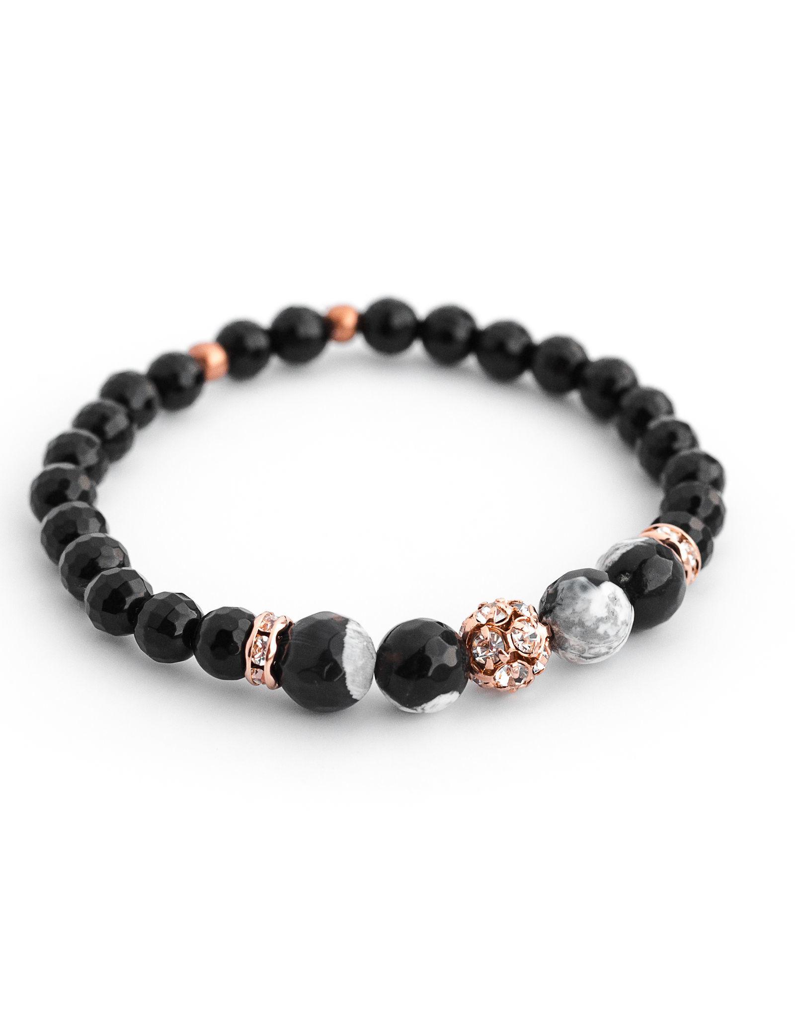 Bijoux Sophistikate Bracelet en pierre semi-précieuse - Trèfle
